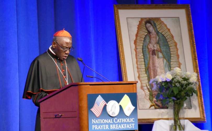 Vatican cardinal rebukes 'demonic' attacks on family at Washington breakfast