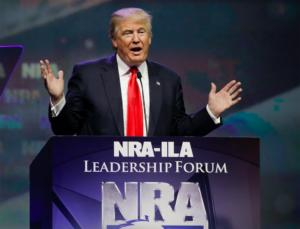 'I Will Not Let You Down': Trump Positions Himself As Gun Rights Champion After Receiving NRA Endorsement