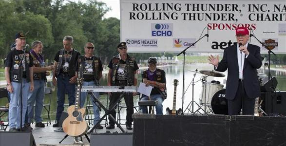 "Trump rallies veterans at annual Rolling Thunder gathering: ""Those in US Illegally Treated Better Than Veterans"" – WATCH"
