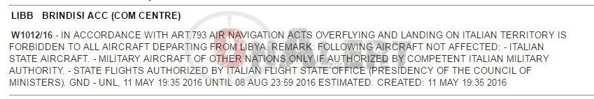 Imminent Intervention? Greece, Italy, & Malta Close Airspace For Aircraft From Libya