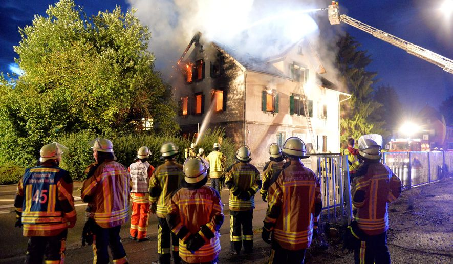 Refugees angry over Ramadan meals set fire to German shelter, police say
