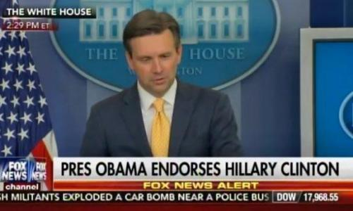 VIDEO=> White House Admits Hillary Clinton Is Under Criminal Investigation – Obama Endorses Her Anyway