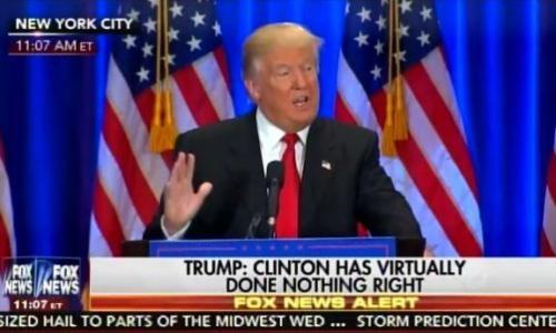 "Trump: ""Hillary Clinton May Be the Most Corrupt Person to Ever Seek the Presidency of the United States"" (Video)"