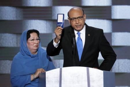 WATCH: Muslim Gold Star Dad Trashes Trump But Not Radical Islam?… And Why Didn't His Muslim Wife Speak?