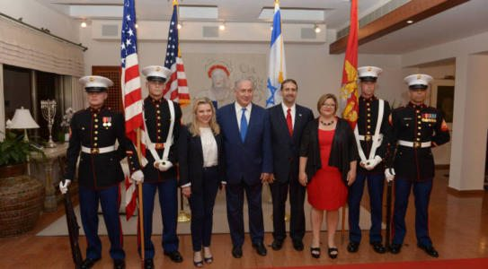 Israeli Leaders Celebrate July 4 at Home of US Ambassador