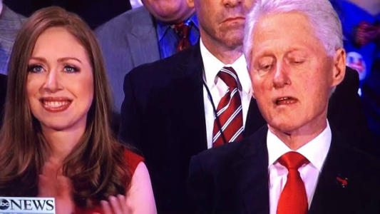 WOW: Look what Bill Clinton was doing during Hillary's acceptance speech…