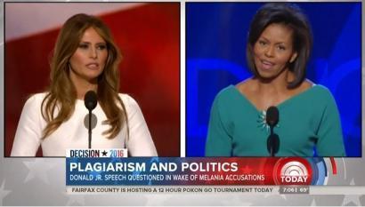 Nets Keep Hammering Melania Trump, Went Easy on Obama Plagiarism in '08