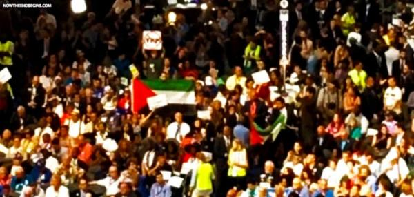 DNC Attendee Waves Palestinian Flag On Convention Floor. Crowd Cheers. Welcome To The Scary, New Openly Anti-Israel Democratic Party.