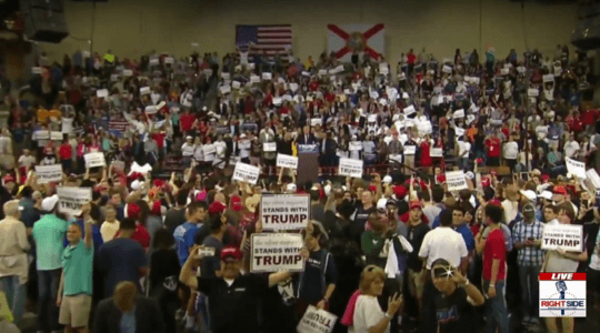 AMAZING! Trump vs Hillary in Kissimmee: Trump Gets THOUSANDS – Hillary Gets 150… Including Terrorist Daddy