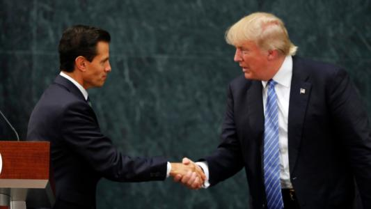 Mexico WILL let me build my wall, Trump boasts after surprise summit with president – but they DIDN'T talk about who will pay – VIDEO