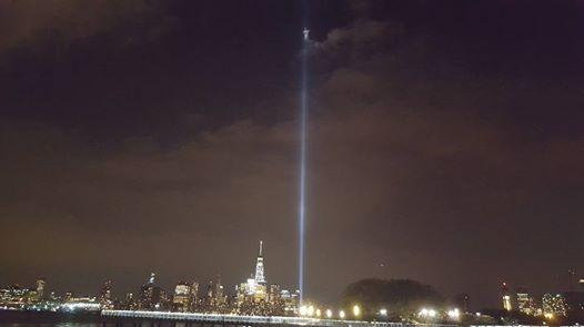 Photographer Captures 'Vision of the Lord' Atop Light Beams Where Twin Towers Once Stood