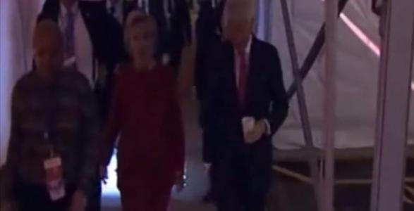 Clinton Runs from Reporters After Debate, Trump Speaks with CNN and Fox News