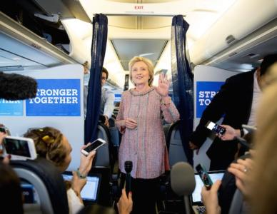 She's Back! Press Greet Hillary with Questions About TV Dramas