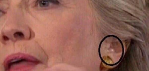 She Cheated! Crooked Hillary Wore Ear Piece During Last Night's Veteran's Forum
