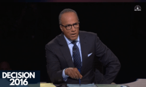 Twitter Poll: Lester Holt Gets a 'D Grade' from Viewers