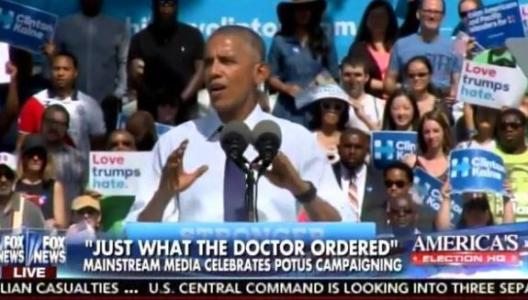 AWFUL. Obama Stumps for Sick Hillary – LIES About Trump Letting Blacks on His Golf Course