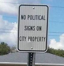 no political signs