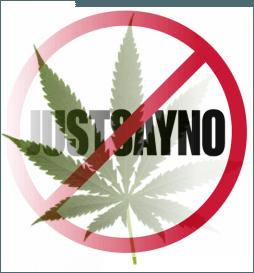 no to marijuana