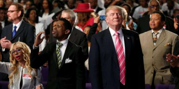 DONALD TRUMP SPEAKS TO AFRICAN AMERICAN CHURCH