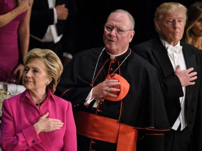 Hillary Clinton Next to Cardinal Dolan at Al Smith Dinner One Day After Defending Partial Birth Abortion