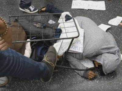 Liberals Attack Homeless Woman Defending Trump Walk of Fame Star (Video)