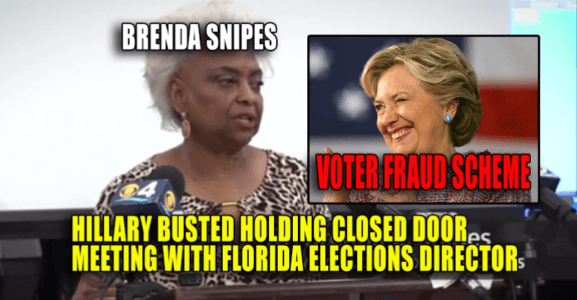 Hillary BUSTED Holding Closed Door Meeting with Florida Elections Director in Possible Voter Fraud Scheme