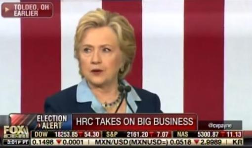 Hypocrite Hillary Bashes Wells Fargo at Rally… But Took $258,000 from Wells Fargo Executives (Video)
