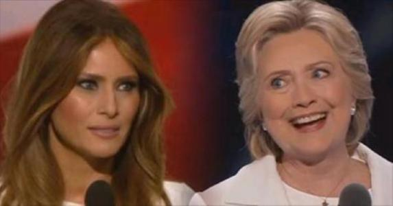 Feminists Slam Melania Trump For Sticking By Her Husband, Praise Hillary Clinton For Defending Her Rapist Husband