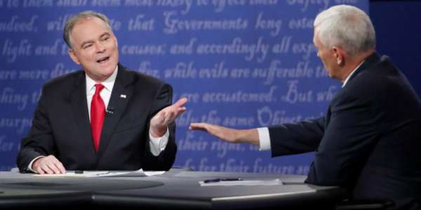 Kaine Interrupted Pence Over 70 Times During The Debate