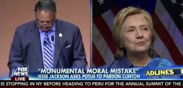 Jesse Jackson: Obama should follow Ford's example - grant Hillary Clinton a pre-emptive pardon
