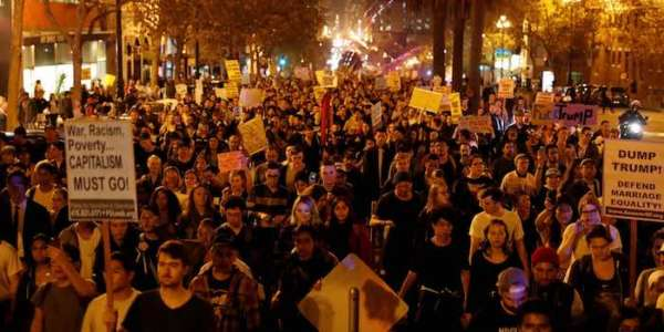 US Anti-Trump Protests Similar to Soros Color Revolutions Abroad