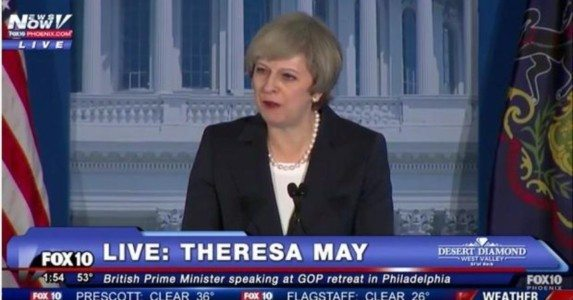 HISTORIC! British PM Theresa May Praises Trump; Delivers Speech on Defense of British-US Alliance and Western Culture (VIDEO)