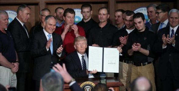 It's Official: Trump Signs Executive Order Unwinding Obama's Climate Change Agenda