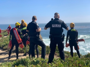 California high-speed chase ends after driver races over cliff into Pacific Ocean
