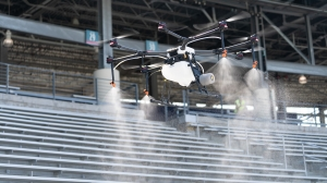 Texas stadiums helping fight coronavirus with disinfectant-spraying drones