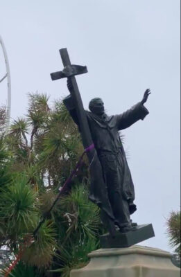 After Serra statue is torn down, archbishop says protests being ...