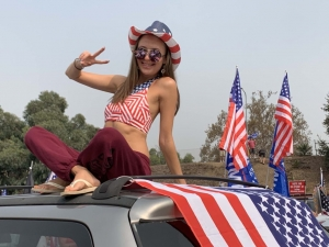 WATCH: Hundreds of Vehicles Join L.A. 'Rally in the Valley' for Trump