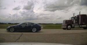 TESLA Driver Pulled Over Going 93 MPH — Completely Asleep!