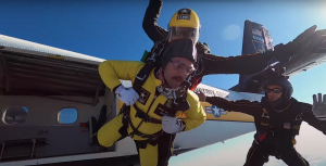 Watch CrossFit Pro Rich Froning and His Crew Skydive With the U.S. Army