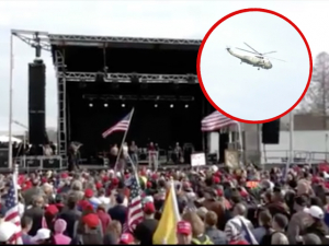 Watch: President Trump Flies over D.C. 'Jericho March' Aboard Marine One
