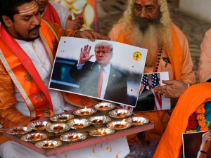 India: Hindu Group Conducts Fire Ritual for Trump Victory