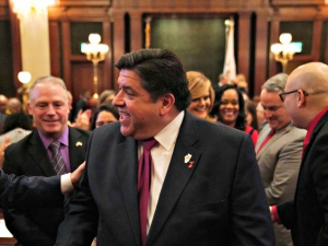Illinois Gov. Pritzker Parties with Biden Election Crowd Despite Calling for State to Lock Down