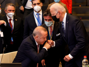 Erdogan Defends Russian Missile Buy at NATO Meeting with Biden