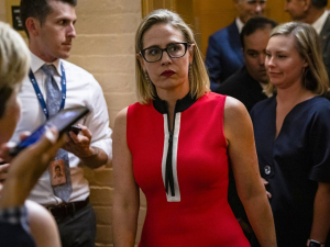 Report: 10 Protesters Arrested Outside Kyrsten Sinema's Phoenix Office