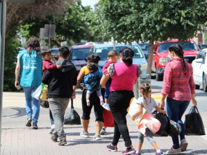 PHOTOS: Hundreds of Migrant Families Released into South Texas After Trump Visit