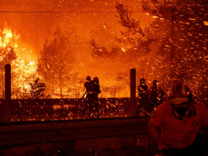 PICS: 'Biblical Catastrophe' as Wildfires Rip Through Greece, Thousands Evacuated