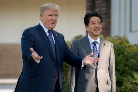 Trump Meets with Japanese PM Shinzo Abe at Mar-a-Lago Resort.