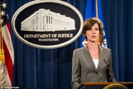 Trump SACKS Attorney General Sally Yates after she told Justice Department NOT to defend his immigrant travel ban AND then fires director of immigration and customs agency just two hours later