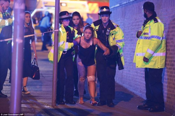 BREAKING NEWS: Several people killed and many injured after two explosions in Manchester Arena at the end of Ariana Grande gig as bloodied concertgoers flee in terror