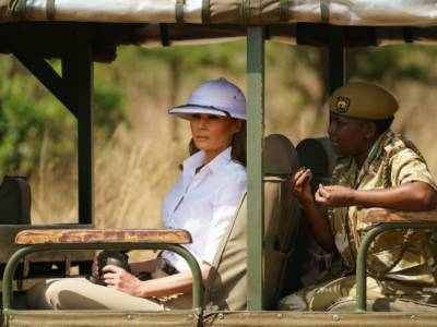 Melania Trump responded to criticism about wearing a 'colonial' hat in Africa: 'I wish people would focus on what I do, not what I wear'